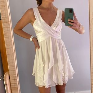 Silk-Breasted White dress